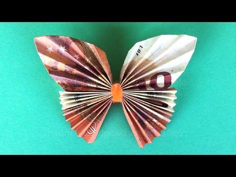 Geldscheine Falten Geldgeschenke Schmetterling Videomoviles Com
