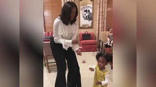 Michelle Obama Dances with Girl Who Stared in Awe of Her Portrait