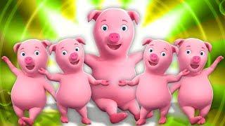 Cinco porquinho | rimas de berçário para crianças | Five Little Piggies Songs | Farmees Português