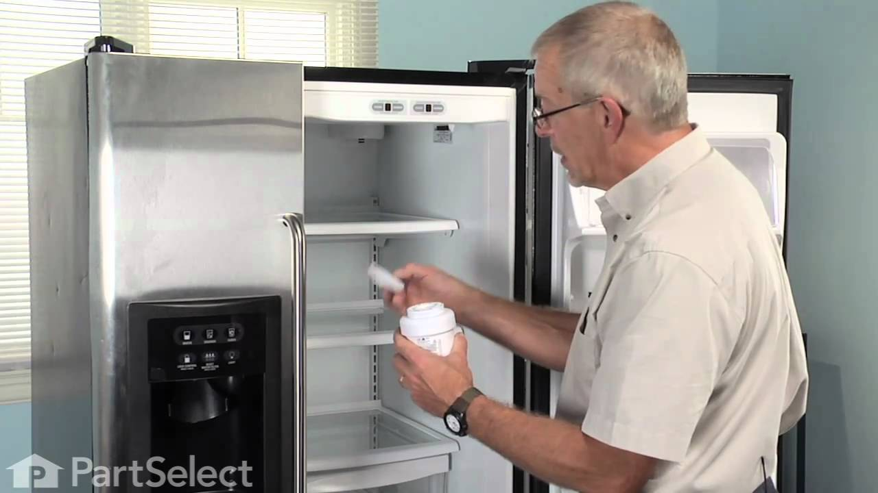 Kenmore Refrigerator Repair >> Refrigerator Maintenance - Changing Ice & Water Filter (GE Part# MWF) - YouTube