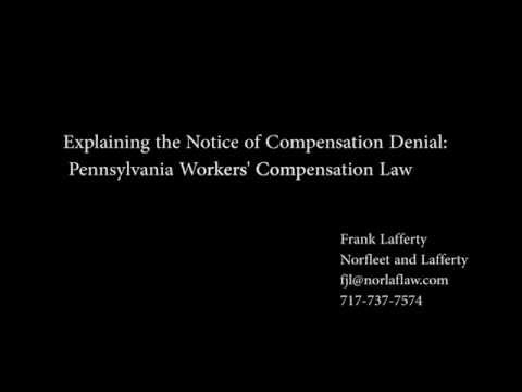 Explaining the Notice of Compensation Denial Form