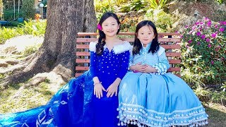Frozen ELSA and ANNA Make Up and Costume