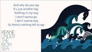 Keane - Nothing In My Way (Lyrics)