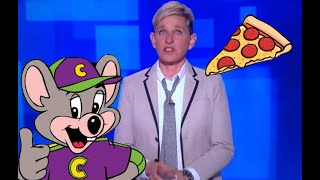 ELLEN CHIMES IN ON CHUCK E CHEESE PIZZA CONSPIRACY