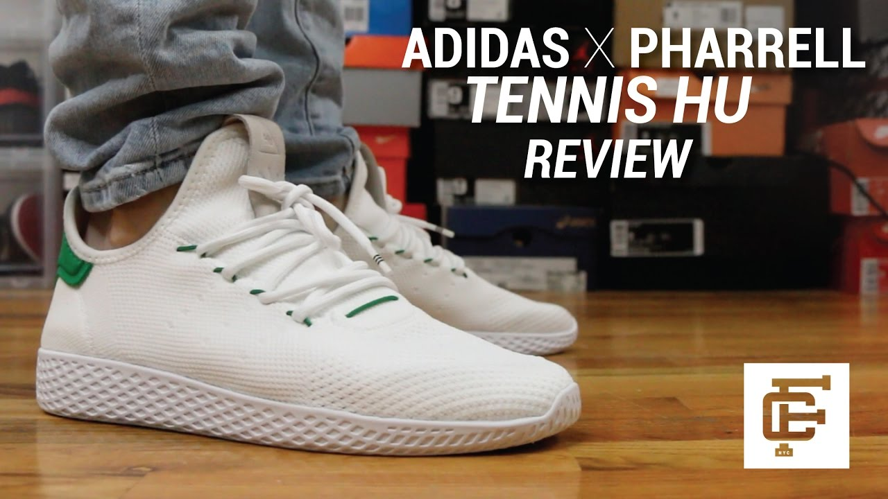 Adidas Pharrell Williams Tennis HU white Unboxing, Review