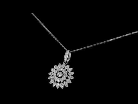 Browns Family Jewellers Diamond Flower Pendant