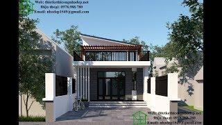 Thiết kế nhà cấp 4 gác lửng, nhà cấp 4 mái lệch hiện đại tại Đồng Nai NDNC456