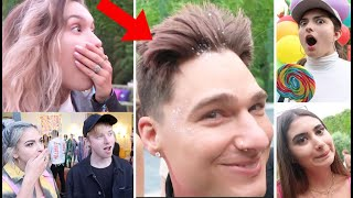YOUTUBERS REACT TO MY BOTCHED HAIRCUT (Sam Golbach, Kristen McAtee Nicolette Gray)