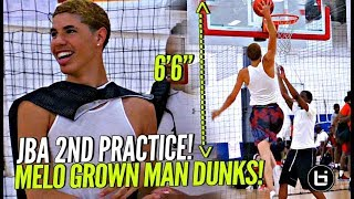 """LaMelo Ball Dunking TOO EASY at 2nd JBA Practice!! LEGIT 6'6""""! + First Look at Other JBA Teams!!"""