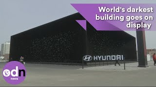 World's darkest building goes on display in Pyeongchang