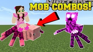 Minecraft: MOB COMBOS!!! (NEW COMBINED MOBS!!) Mod Showcase