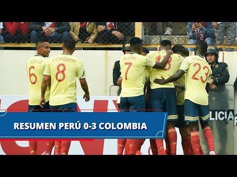 Perú vs Colombia (0-3): goles y resumen del partido preparatorio Copa América 2019
