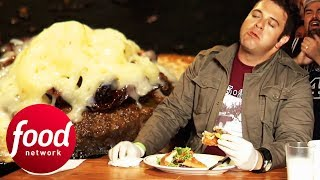Can Adam Survive This Insane Ghost Chilli Burger Challenge?! | Man v Food