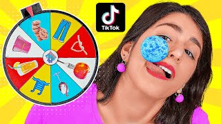 WE TESTED VIRAL TikTok LIFE HACKS AND TRICKS    Spin The Mystery Wheel by 123 GO! CHALLENGE