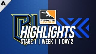 New York Excelsior vs Boston Uprising ft Pine | Overwatch League Highlights OWL Week 1 Day 2