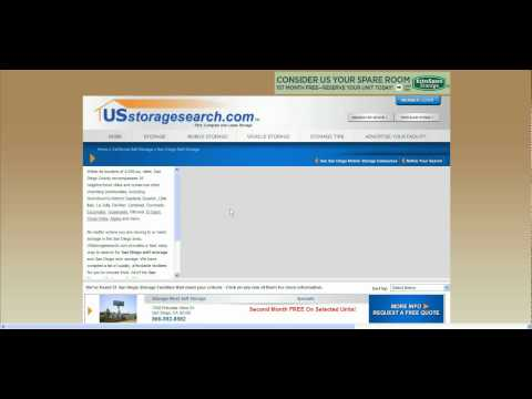 Find Self Storage In San Diego, CA Using USstoragesearch.com