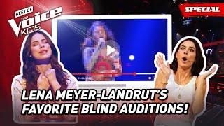 The Favorite Blind Auditions of Coach LENA MEYER-LANDRUT of The Voice Kids Germany! 😍 | Top 10
