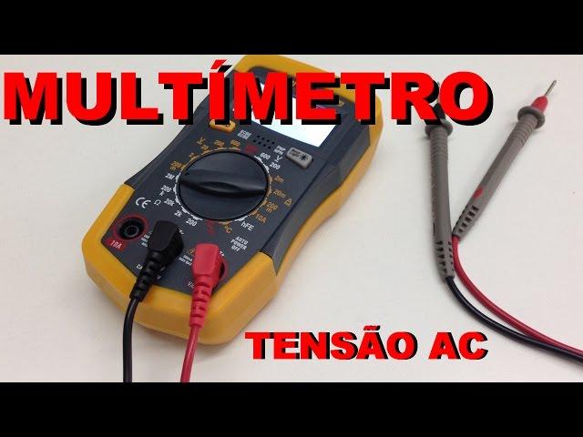 PRIMEIROS PASSOS COM MULTÍMETRO: MEDINDO TENSÃO AC | Conheça Eletrônica! #015