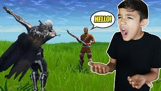 I IGNORED My Little Brother For An Entire Fortnite Game! HE RAGED! VICTORY ROYALE!