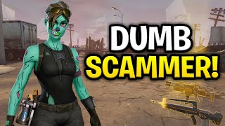 Insanely Dumb Scammer Scams Himself! (Scammer Get Scammed) Fortnite Save The World