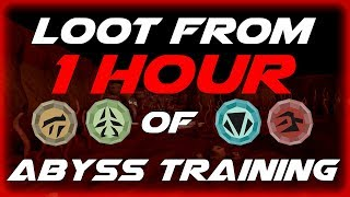 Runescape 3 - Loot from 1 hour of Abyss training (Charm rate)