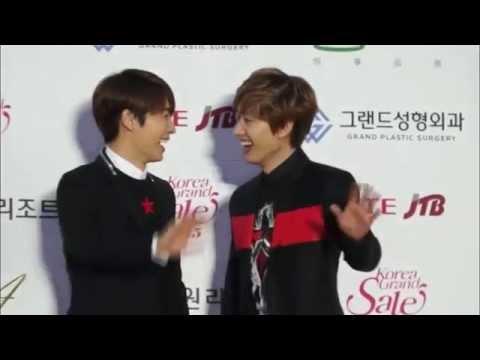 150122 HaeHyuk/EunHae sweet moments - Red carpet