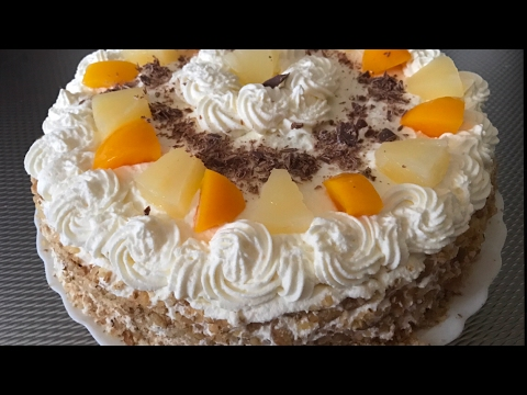 slagroomtaart maken / how to make cream cake