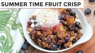 GLUTEN FREE + VEGAN FRUIT CRISP | MANGO BLUEBERRY + GINGER