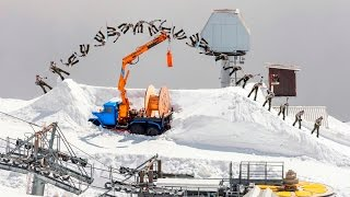 Abandoned Winter Resort is the Perfect Snowboard Playground