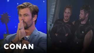 Chris Hemsworth Explains What's Going On In This Picture With Chris Pratt  - CONAN on TBS