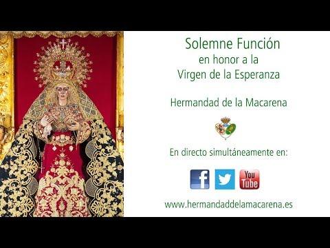 Solemne Función en honor a la Virgen de la Esperanza