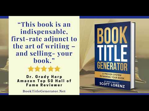 Book Title Generator by Scott Lorenz Book Publicist - audiobook snippet
