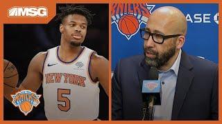 Fizdale Assesses Point Guard Play, Barrett's Performance vs. Hawks   New York Knicks