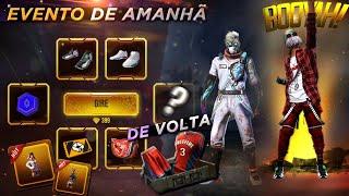 AMANHÃ!! TÊNIS SWIFTS E DR SANIDADE DE VOLTA, NOVO EMOTE, DUNK MASTER E COELHÃO EM BREVE - FREE FIRE