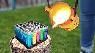 Experiment: Lava Vs Lighters