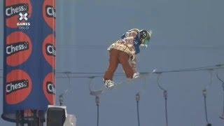 Chloe Kim Snowboard Half Pipe Run (Part 3)