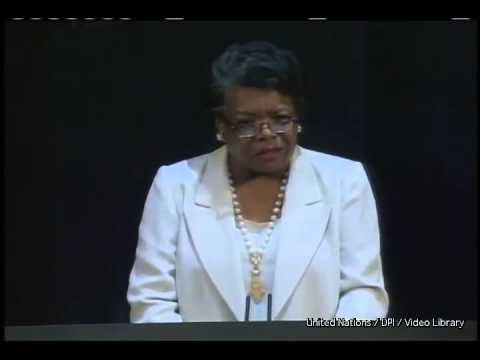 "Maya Angelou | reading her poem ""A Brave and Startling Truth"""