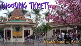 Disneyland Vacation Tips - Choosing Park Tickets