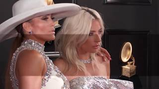 Jennifer Lopez w/Lady Gaga On The Red Carpet | 2019 GRAMMYs