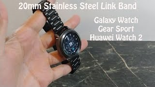 Samsung Galaxy watch Gear Sport Metal milanese loop and stainless steel link bands for 20mm  Watches