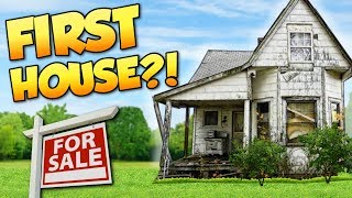 BUYING FIRST HOUSE! - House Flipper Gameplay - Buying the first FILTHY House (Beta)