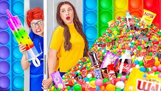 FUNNY WAYS TO SNEAK FOOD INTO HOSPITAL || Secret Candy and Snack Situations by 123 GO! SCHOOL