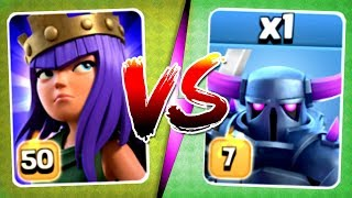 SURPRISING WINNER!? LEVEL 50 vs LEVEL 7!! - Clash Of Clans - MAX LEVEL BATTLE!