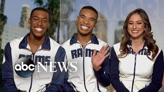 Super Bowl-bound male cheerleaders make NFL history