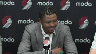 Kent Bazemore Introductory Press Conference