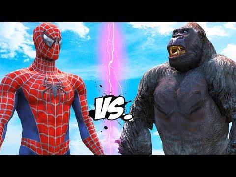 SPIDERMAN VS KING KONG - EPIC BATTLE