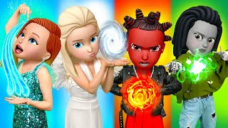 Fire, Water, Earth and Air | Four Elements at monster school! funny moments by La La Life Emoji