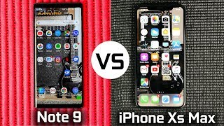 iPhone Xs Max Vs Galaxy Samsung Note 9 - Battle of the Biggest Phones in the World!