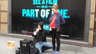 Amazing street magician in London