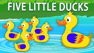 ห้าเป็ดน้อย | วิดีโอสัมผัส | สัมผัสสำหรับเด็กทารก | Five Little Ducks | Preschool Song